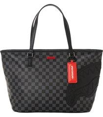 sprayground henny tote bag black and grey 910t3570nsz-bk hen tote