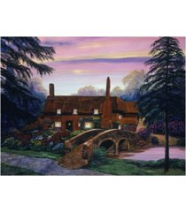 "david lloyd glover the manor house visit canvas art - 37"" x 49"""