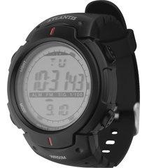 relógio atlantis relógios tecnet digital esportivo running preto