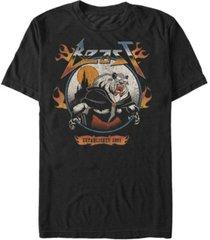 disney men's beauty and the beast metal beast, short sleeve t-shirt