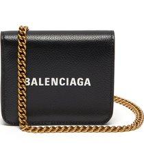 flap shoulder strap wallet