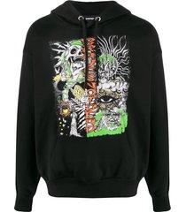 diesel s-alby-d1 relaxed-fit hoodie - black