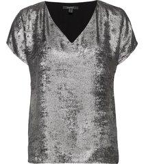 blouses woven blouses short-sleeved grå esprit collection