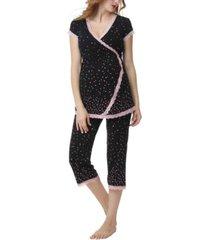 kimi & kai joyce maternity nursing pajama set