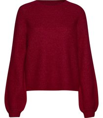 maville knit lurex o-neck gebreide trui rood second female