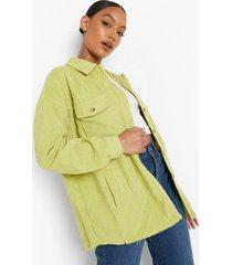 oversized blouse met corduroy zakken, lime