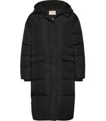 signe puffer coat gevoerde lange jas zwart soft rebels