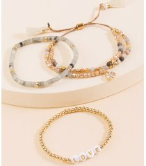 women's issa bracelet set in natural by francesca's - size: one size