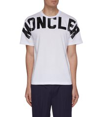 cross chest logo print t-shirt