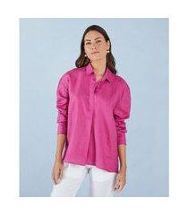 camisa columbus aisha cor: pink - tamanho: pp