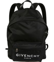 givenchy front logo print backpack