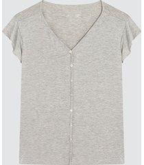 camiseta manga con bolero color gris, talla l