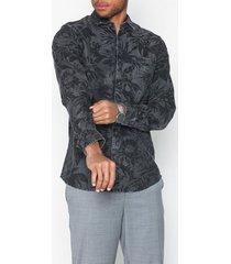 only & sons onstheo ls printed chambray shirt skjortor grå