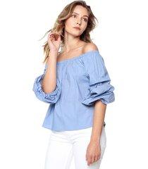 blusa azul ambiance