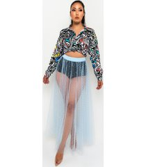 akira on top of the world sheer maxi skirt