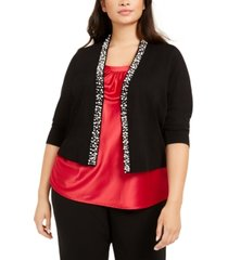 calvin klein plus size embellished shrug