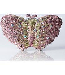 akira butterfly embellished clutch
