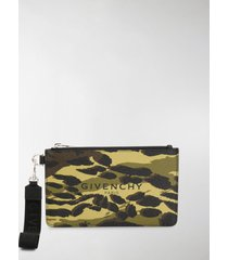 givenchy camouflage print pouch bag