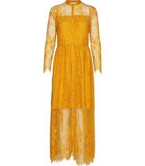 leela loose dress maxiklänning festklänning gul notes du nord