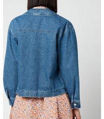 a.p.c. women's nikkie jacket - light blue - fr 42/uk 12
