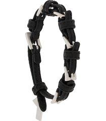 coup de coeur buckle-embellished leather bracelet - black