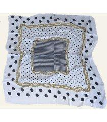 pañuelo blanco nuevas historias cadenas y lunares ba536-11
