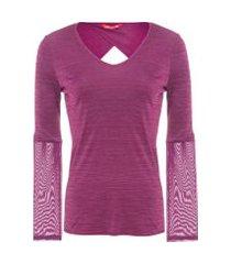 camiseta recorte vazado - roxo