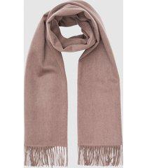 reiss jen - wool cashmere blend oversized scarf in mink, womens