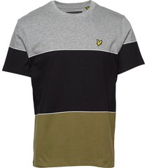 wide multi stripe t-shirt t-shirts short-sleeved multi/mönstrad lyle & scott
