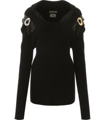 bottega veneta pullover with brooches