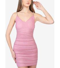 b darlin juniors' embellished ruched dress