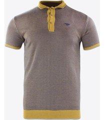 polo shirt korte mouw gabbiano denim 61069 poloshirt yellow