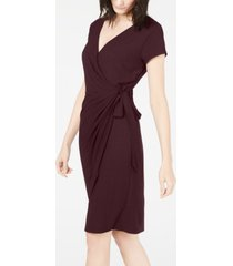 inc cap-sleeve faux-wrap dress, created for macy's