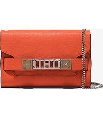 proenza schouler ps11 chain clutch 820 tangerine tango/orange one size