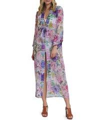 lulla collection by bindya women's marbella kimono coverup