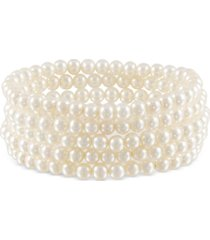 5-pc. set cultured freshwater pearl (5-1/2mm) stretch bracelets