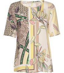 blouse short-sleeve blouses short-sleeved multi/mönstrad gerry weber