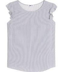 blusa mujer lineas m/c arandela color azul, talla m