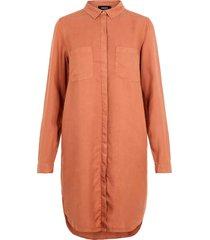skjortklänning ls lyocell shirt dress