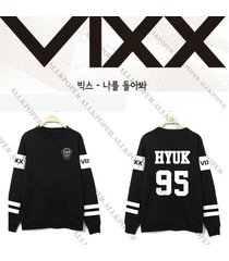 kpop vixx sweater v.i.x.x. zelos hoodie hongbin hyuk ken leo n ravi pullover