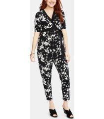 motherhood maternity floral-print jumpsuit