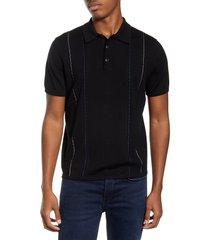 men's rag & bone jamison stripe wool blend polo sweater