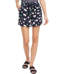 maison jules floral-print tie-belt shorts, created for macy's