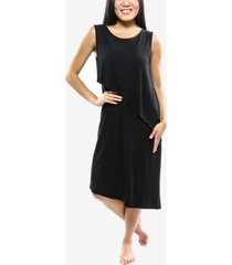 skinnytees sleeveless asymmetrical hem dress