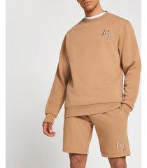 river island mens stone ri4 slim fit sweatshirt