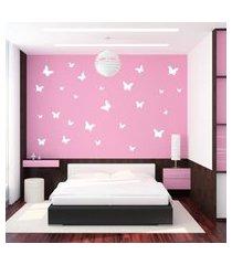 adesivo de parede borboletas brancas para quarto infantil