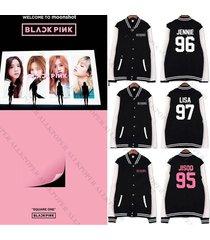 kpop blackpink baseball uniform coat square one varsity jacket outwear rose
