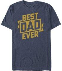 fifth sun men's best dad ever short sleeve crew t-shirt