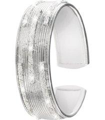 anello in ottone rodiato e glitter per donna