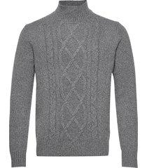 wool-blend mock-neck sweater knitwear turtlenecks grijs banana republic